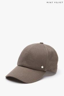 Mint Velvet Grey Love Baseball Cap