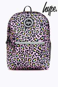 Hype. Pink Disco Leopard Utility Backpack