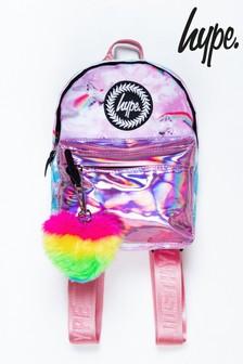 Hype. Purple Unicorn Holographic Mini Backpack