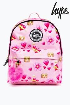 Hype. Pink Emoji Backpack