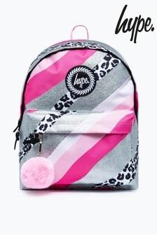 Hype. Pink Glitter Leopard Wave Backpack