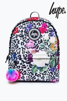 Hype. Pink Leopard Floral Backpack