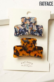 FatFace Brown Resin Hair Clips 2 Pack