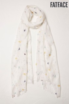Fat Face Natural Bee Sequin Scarf