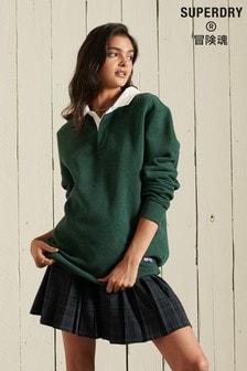 Superdry Green Oversized Rugby Sweatshirt