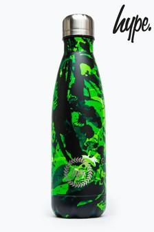 Hype. Green Splatter Metal Reusable Bottle