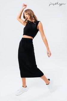 Hype. Black Sweat Midi Skirt Women's Loungewear Set