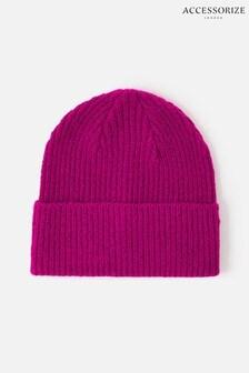 Accessorize Pink Soho Knit Beanie Hat