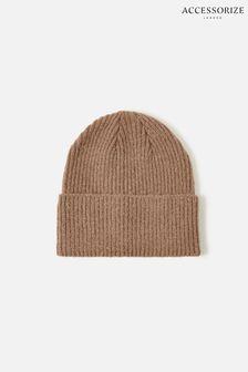 Accessorize Camel Soho Knit Beanie Hat