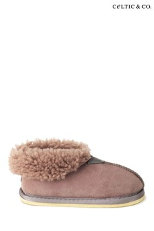 Celtic & Co Kids Pink Sheepskin Slippers