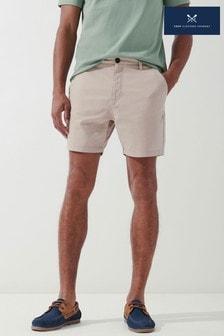 Crew Clothing Company Cream Shorter Length Bermuda Shorts