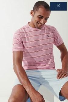 Crew Clothing Company Pink Feeder Stripe T-Shirt