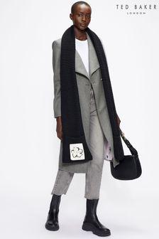 Ted Baker Rose Mid Length Wool Wrap Coat