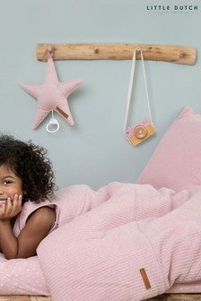 Little Dutch Pink Pure Pink Cot Duvet Cover