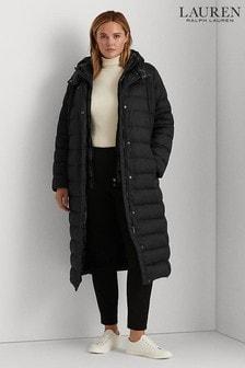 Lauren Ralph Lauren Curve Black Insulated Quilted Down Jacket