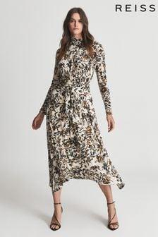 Reiss Bobby Floral Printed Midi Dress