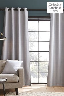Catherine Lansfield Silver Curtains