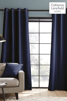Catherine Lansfield Blue Curtains