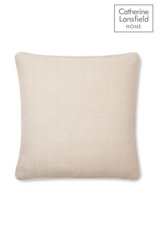 Catherine Lansfield Natural Textured Cushion