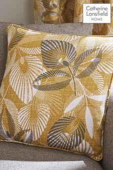 Catherine Lansfield Yellow Abbotsley Leaf Cushion
