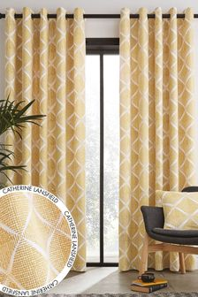 Catherine Lansfield Yellow Curtains