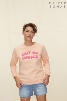 Oliver Bonas Pink Out Of Office Sweatshirt