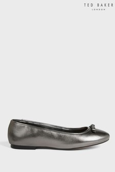 Ted Baker Noraih Metallic Leather Bow Ballerina Shoes