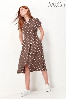 M&Co Polka Dot Shirt Dress