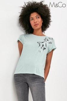 M&Co Butterfly T-shirt