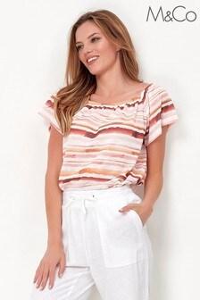 M&Co Stripe bardot top