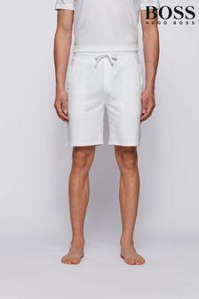 BOSS White Heritage Jogger Shorts