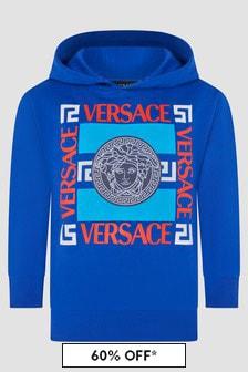 Versace Boys Blue Sweat Top