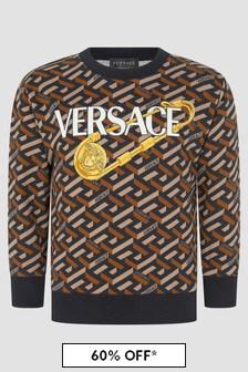 Versace Kids Black Sweat Top