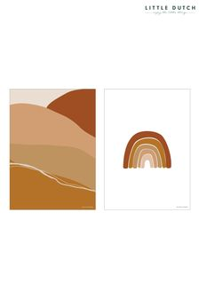 Little Dutch Orange Horizon A3 Poster