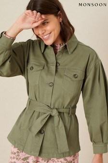 Monsoon Green Aisha Cargo Military Jacket