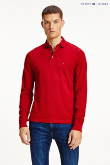 Tommy Hilfiger Red 1985 Slim Long Sleeve Polo