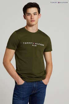 Tommy Hilfiger Green Tommy Logo Tee