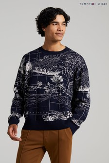 Tommy Hilfiger Blue Concept Graphic Sweater