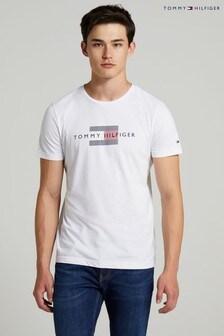 Tommy Hilfiger White Lines Hilfiger T-Shirt