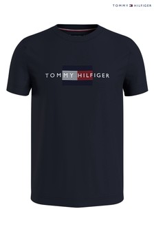 Tommy Hilfiger Mens Blue Lines T-Shirt