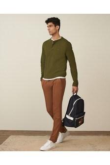 Tommy Hilfiger Mens Green Classic Henley T-Shirt