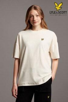 Lyle & Scott White Bouclé T-Shirt