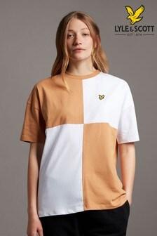 Lyle & Scott Brown Patchwork T-Shirt