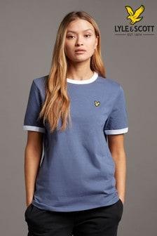Lyle & Scott Blue Ringer T-Shirt