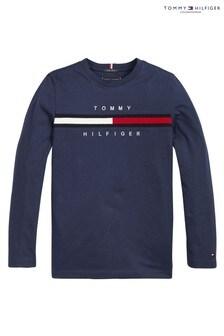 Tommy Hilfiger Flag Rib Long Sleeve T-Shirt