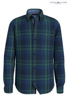 Tommy Hilfiger Green Corduroy Flag Shirt