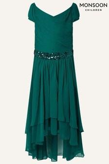 Monsoon Green Abigail Sequin Dress