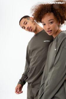 Continu8 Khaki Long Sleeve T-Shirt