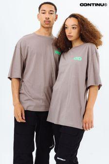 Continu8 Taupe Oversized T-Shirt