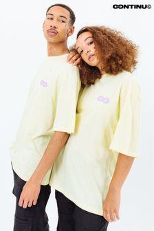 Continu8 Unisex Yellow Oversized T-Shirt